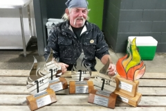 Wayne and his awards
