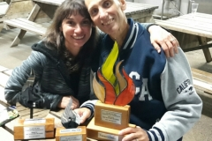 Phil and Rachel with their awards