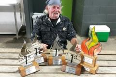 Wayne and his awards
